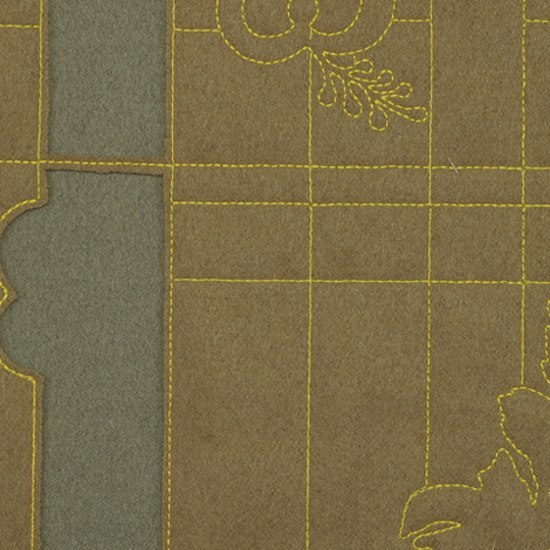 Layers Park Double 001 Mineral/Taupe/Lemon by Maharam | Fabrics