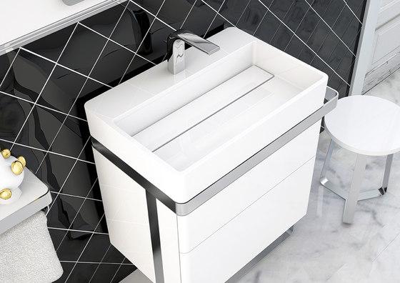Structure Countertop MineralMarmo® Washbasin de Inbani | Lavabos
