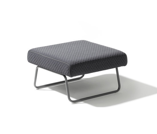 Lounge stool Hirche by Lampert | Poufs