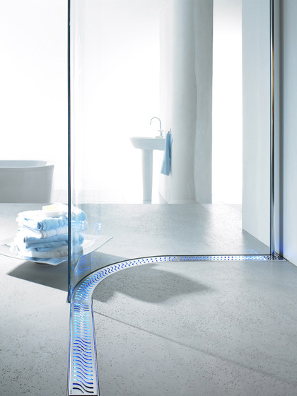ACO ShowerDrain Lightline :Blue by ACO Haustechnik | Linear drains