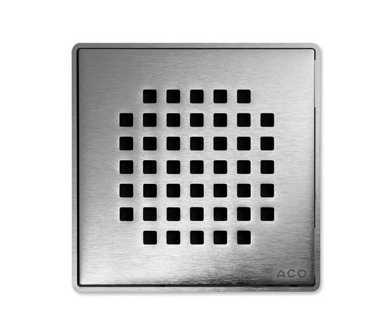 ACO ShowerDrain Badablauf eckig Quadrato von ACO Haustechnik | Punktabläufe / Badabläufe