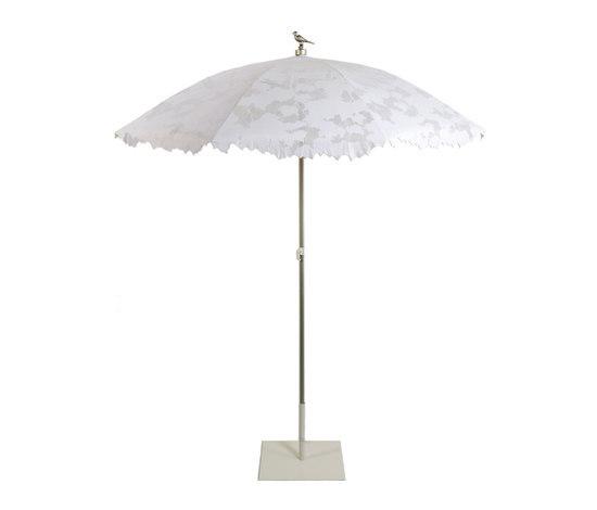 Shadylace parasol white di Droog | Ombrelloni