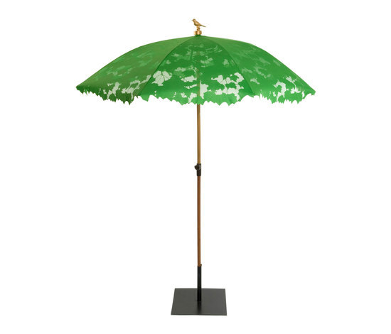 Shadylace parasol green di Droog | Ombrelloni