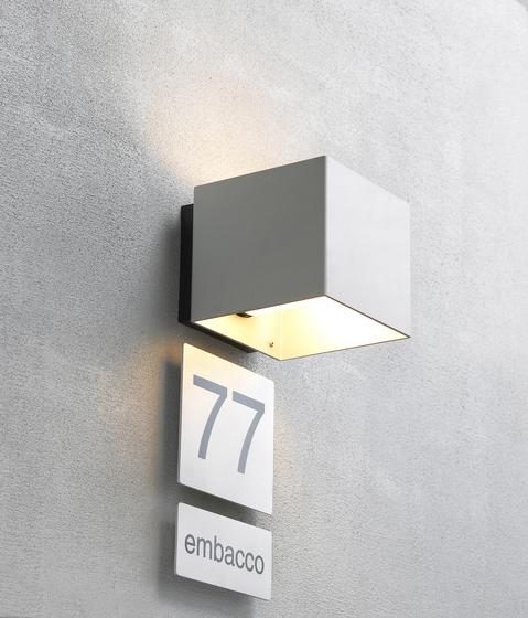 Welcome Alu nature di Embacco Lighting | Lampade outdoor parete