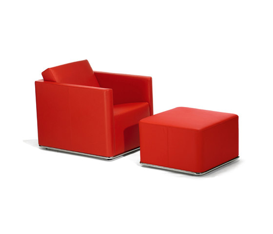 Glamour Armchair with Pouf by GRASSOLER | Armchairs