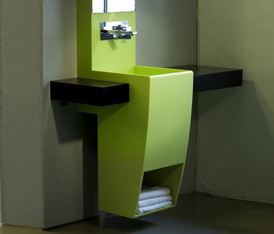 Green bathroom set by AMOS DESIGN | Vanity units
