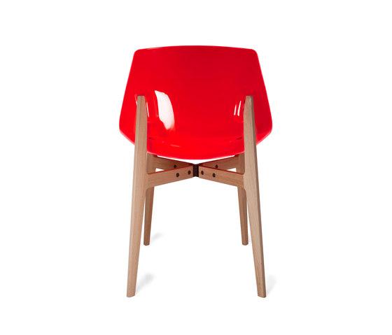 Aka Fluorescent orange by Skitsch by Hub Design | Restaurant chairs