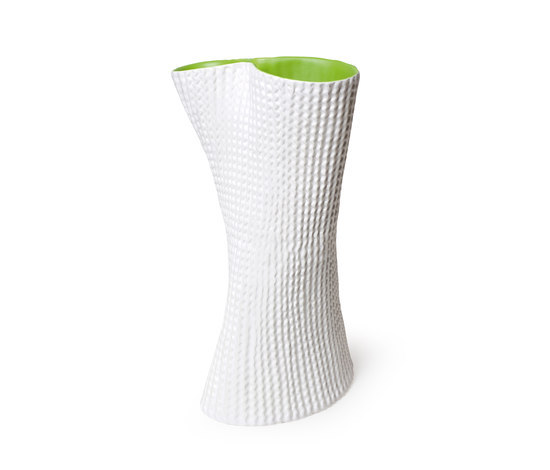 Cardboard Vase White and green by Skitsch by Hub Design | Vases