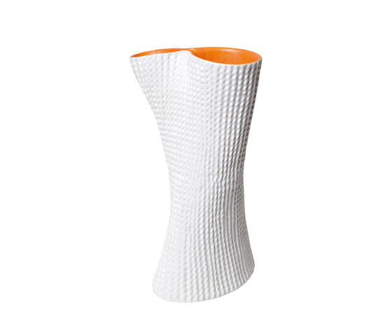 Cardboard Vase | white and orange by Skitsch by Hub Design | Vases