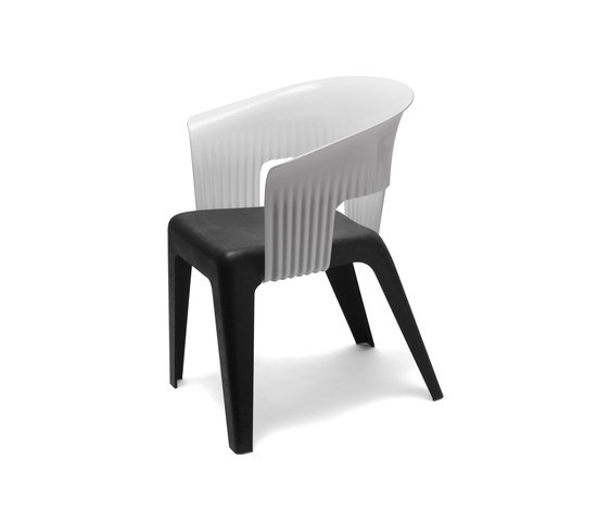 Madeira White Black by Skitsch by Hub Design | Multipurpose chairs