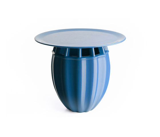 Oppiacei Papaver blue by Skitsch by Hub Design | Side tables