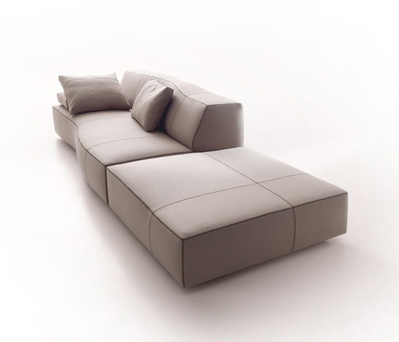 Bend sofa by B&B Italia | Poufs