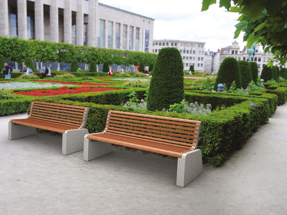 forma | Park bench with backrest by mmcité | Exterior benches