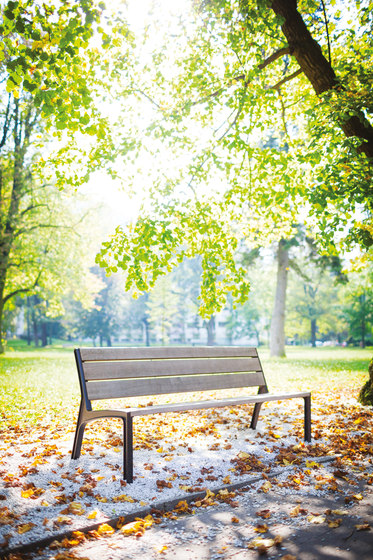 miela   Park bench with backrest by mmcité   Exterior benches