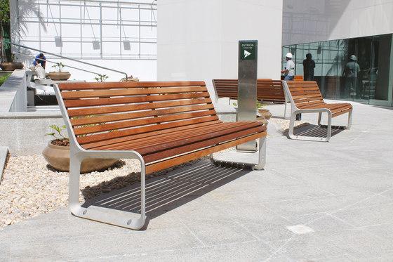 portiqoa | Park bench with backrest by mmcité | Exterior benches