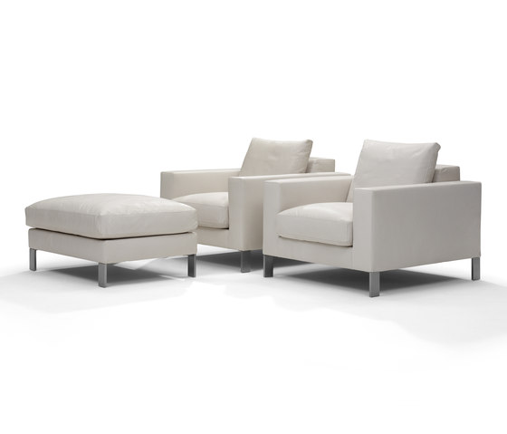 Plaza armchair/footstool de Linteloo | Fauteuils d'attente