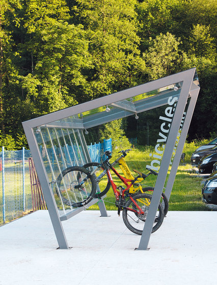 edge Bicycle shelter by mmcité | Bicycle shelters