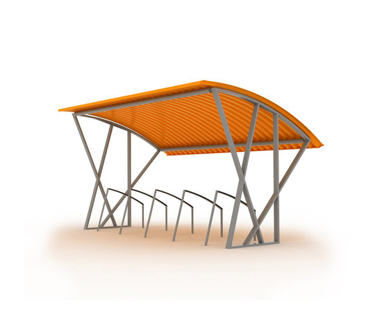 tyre Bicycle shelter by mmcité | Bicycle shelters