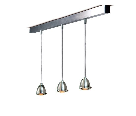 athene/ zeus rail system by less'n'more | Suspended lights