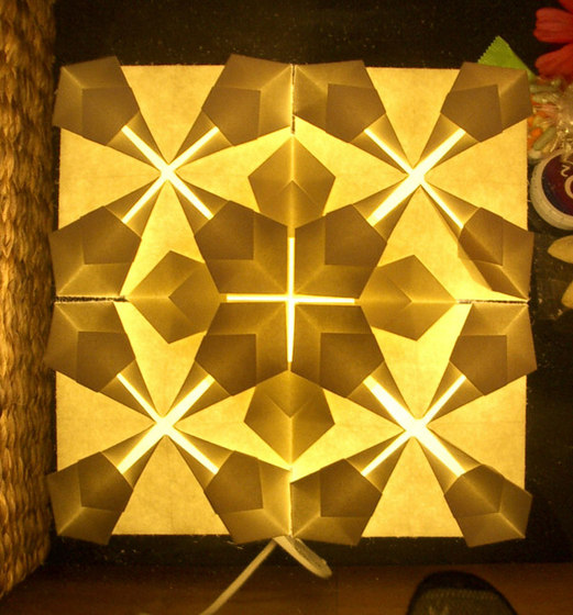 Origamilight by Oliver Kessler | Back-illuminated walls