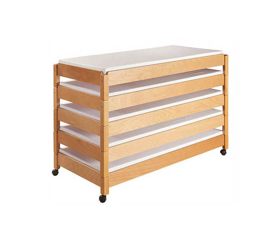 stacking bed beech  DBF-156-01 by De Breuyn | Children's beds