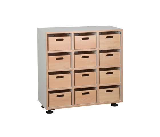 Floor unit with toy boxes  DBF-301-10 by De Breuyn | Kids storage