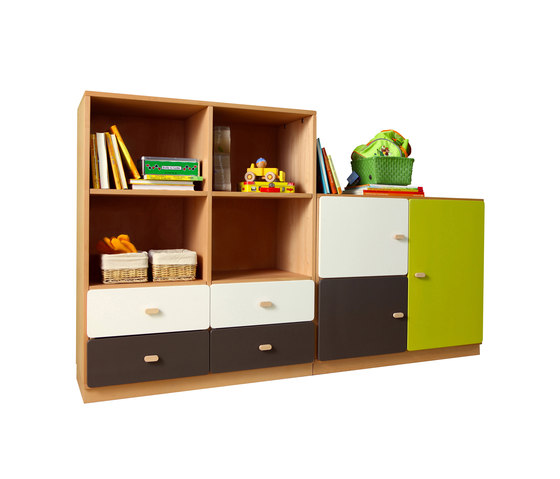 Cabinet Combination DBB-261 by De Breuyn | Children's area