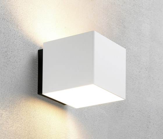 Welcome White shiny by Embacco Lighting | Outdoor wall lights