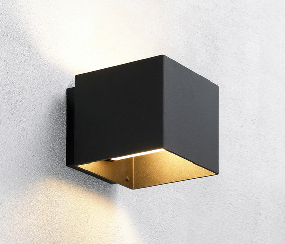 Welcome Black by Embacco Lighting | Outdoor wall lights
