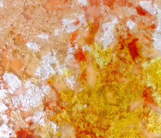 Goldsmith | Rosey Gold Leaf de Conglomerate | Verre décoratif