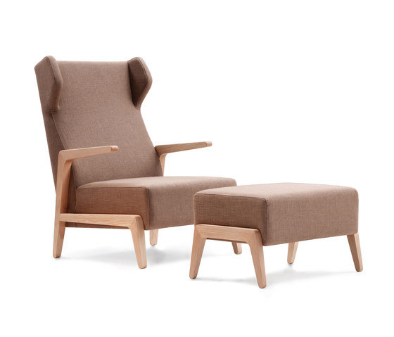 Boomerang Chill with pouf by Sancal | Armchairs