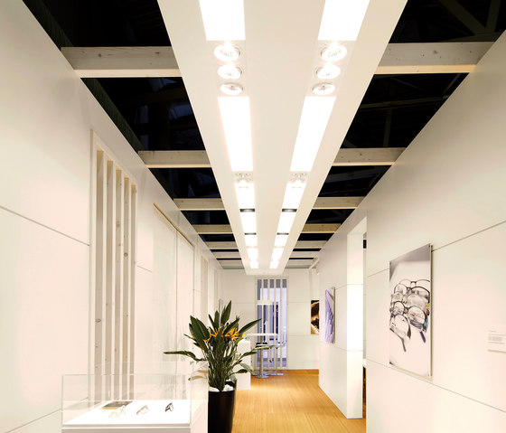 maxi frameless recess light ceiling by planlicht | Recessed ceiling strip lights