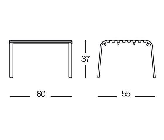 Striped Foot-stool de Magis | Tabourets de jardin