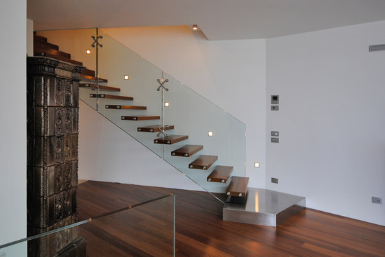 Mistral Stainless Steel Landing by Siller Treppen | Staircase systems
