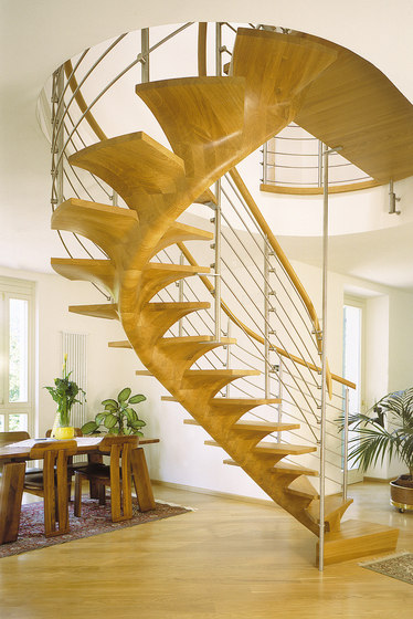 Pentagon by Siller Treppen | Wood stairs