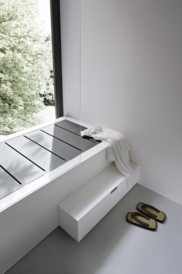 Unico Shower tray by Rexa Design | Towel rails