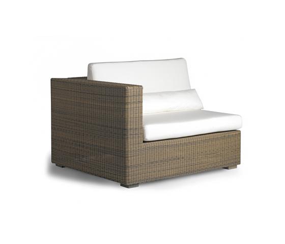 Aspen right seat by Manutti | Garden armchairs