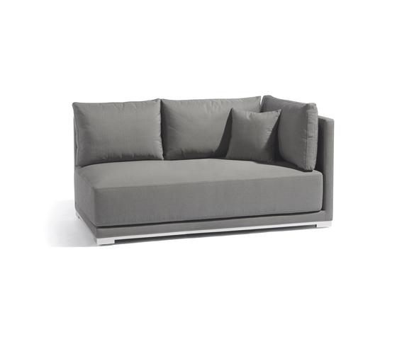 Flow left double seat by Manutti | Garden sofas