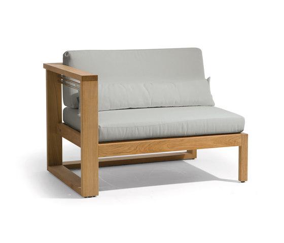 Siena lounge right seat von Manutti | Sessel