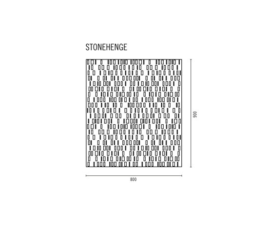 Stonehenge wall panel by AMOS DESIGN | Mineral composite panels