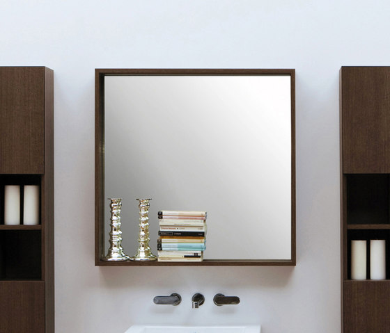 Compono System mirror by Ceramica Flaminia | Bath shelving