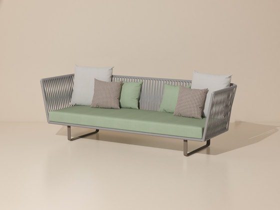 Bitta 3 seater sofa de KETTAL | Sofas de jardin