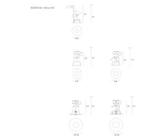Rastaf 86 by Artemide Architectural | General lighting