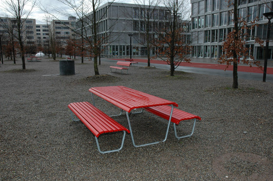 Landi Bench without backrest by BURRI | Exterior benches
