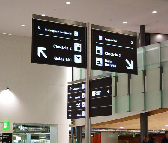 Signage system - Pedestrian Wayfinding - Masts by BURRI | Wayfinding
