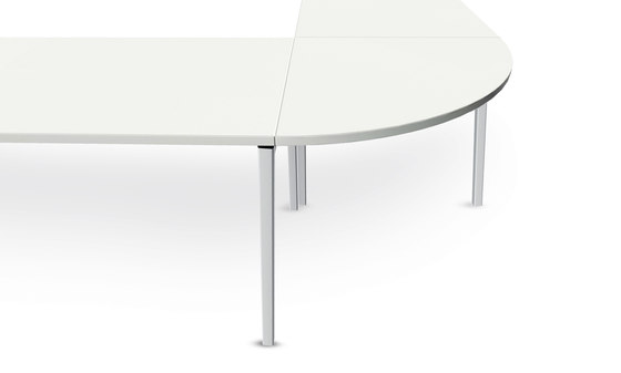 n.f.t. folding table, four-leg base by Wiesner-Hager | Modular conference table elements