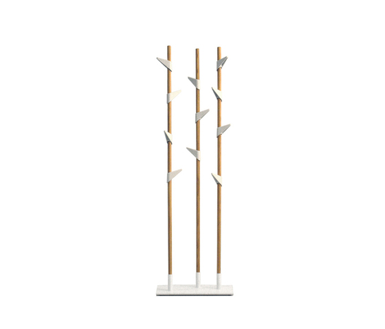 Bamboo 3 coat stand by Cascando | Freestanding wardrobes