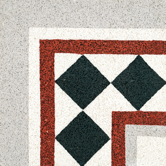 Terrazzo corner tile by VIA | Concrete/cement flooring