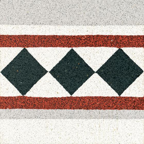 Terrazzo edge tile by VIA | Floor tiles