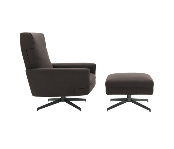 Parker Armchair I Pouf by Minotti | Armchairs